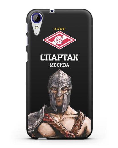 Чехол ФК Спартак Москва Гладиатор силикон черный для HTC Desire 830