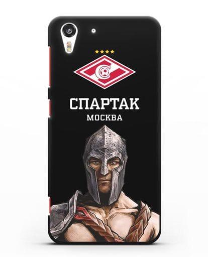 Чехол ФК Спартак Москва Гладиатор силикон черный для HTC Desire Eye