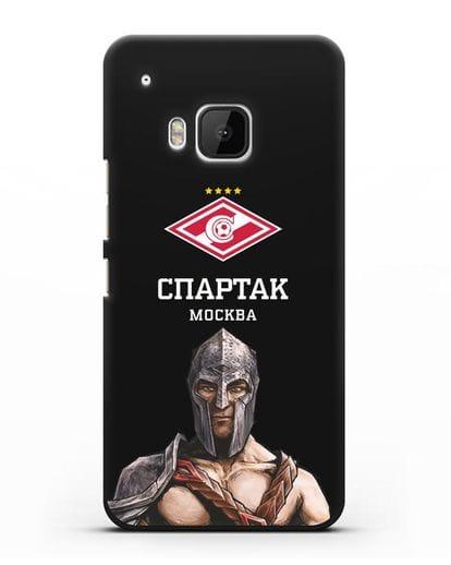 Чехол ФК Спартак Москва Гладиатор силикон черный для HTC One M9