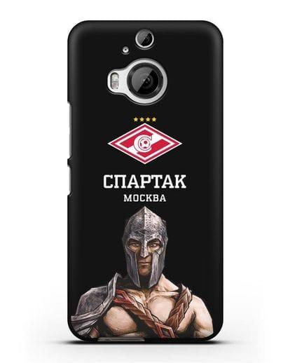 Чехол ФК Спартак Москва Гладиатор силикон черный для HTC One M9 Plus