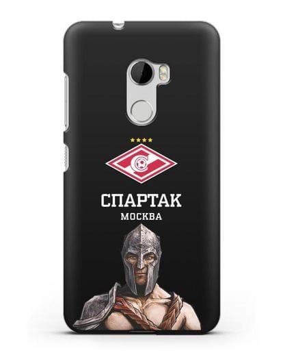 Чехол ФК Спартак Москва Гладиатор силикон черный для HTC One X10