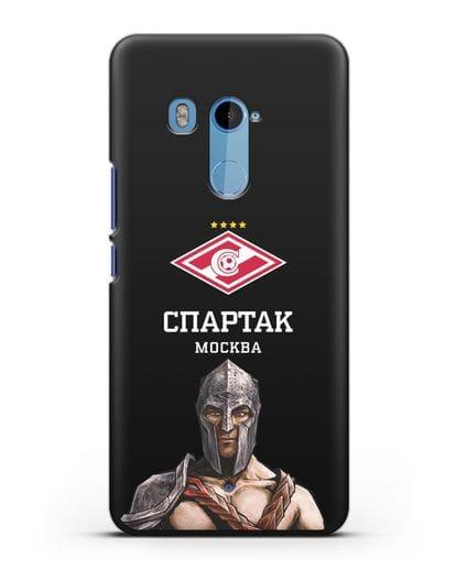 Чехол ФК Спартак Москва Гладиатор силикон черный для HTC U11 Plus