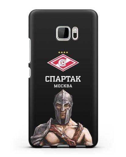 Чехол ФК Спартак Москва Гладиатор силикон черный для HTC U Ultra