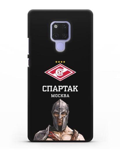 Чехол ФК Спартак Москва Гладиатор силикон черный для Huawei Mate 20X