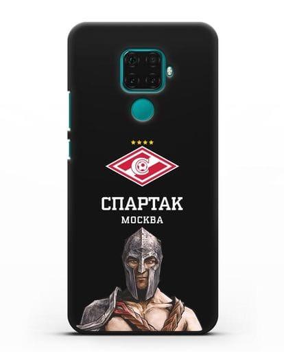 Чехол ФК Спартак Москва Гладиатор силикон черный для Huawei Mate 30 Lite