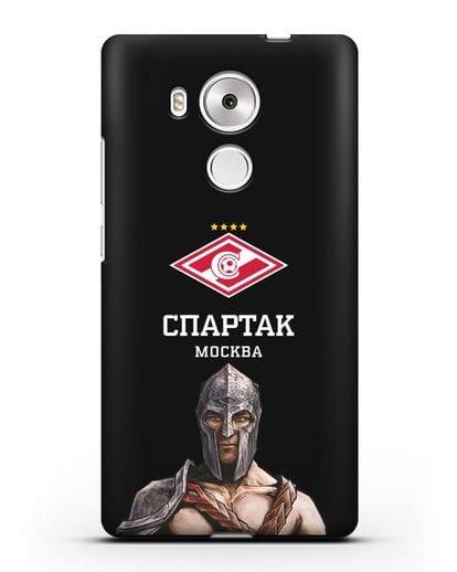 Чехол ФК Спартак Москва Гладиатор силикон черный для Huawei Mate 8