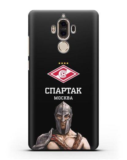 Чехол ФК Спартак Москва Гладиатор силикон черный для Huawei Mate 9
