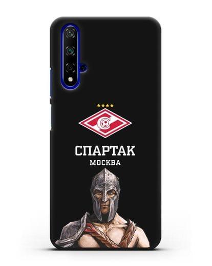 Чехол ФК Спартак Москва Гладиатор силикон черный для Huawei Nova 5T