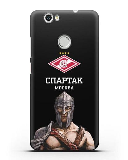 Чехол ФК Спартак Москва Гладиатор силикон черный для Huawei Nova