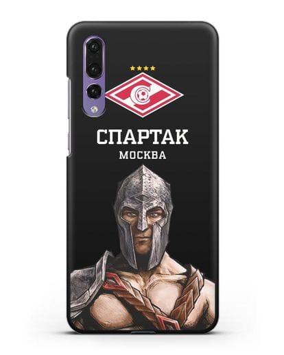 Чехол ФК Спартак Москва Гладиатор силикон черный для Huawei P20 Pro