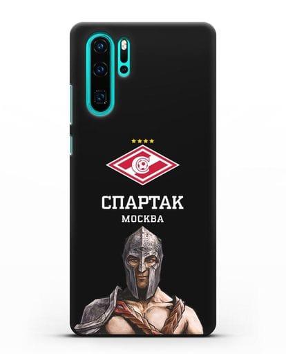 Чехол ФК Спартак Москва Гладиатор силикон черный для Huawei P30 Pro