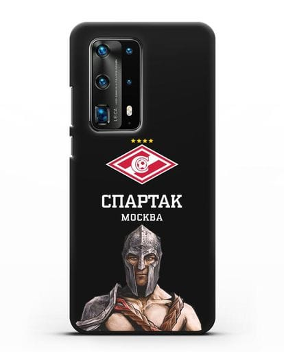Чехол ФК Спартак Москва Гладиатор силикон черный для Huawei P40 Pro
