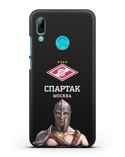Чехол ФК Спартак Москва Гладиатор силикон черный для Huawei P Smart 2019