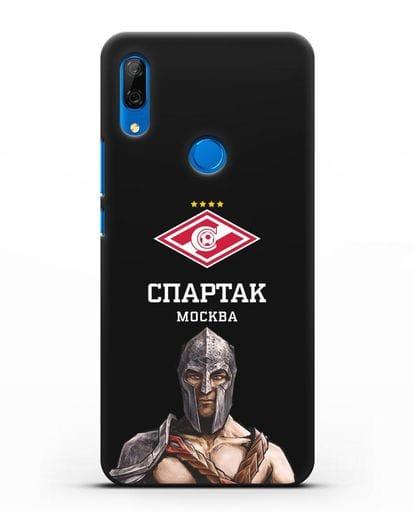 Чехол ФК Спартак Москва Гладиатор силикон черный для Huawei P Smart Z