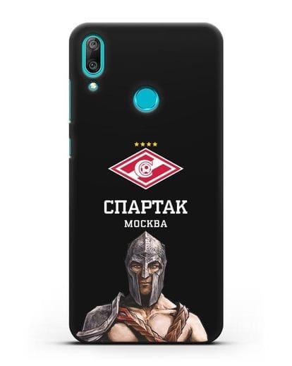Чехол ФК Спартак Москва Гладиатор силикон черный для Huawei Y7 2019