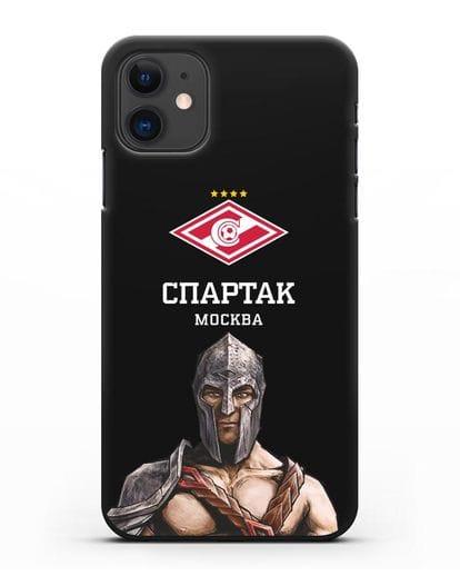 Чехол ФК Спартак Москва Гладиатор силикон черный для iPhone 11