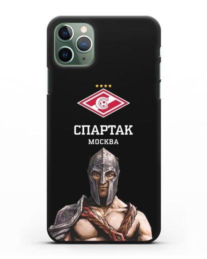 Чехол ФК Спартак Москва Гладиатор силикон черный для iPhone 11 Pro