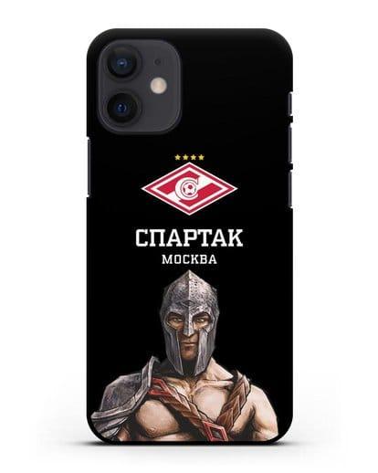 Чехол ФК Спартак Москва Гладиатор силикон черный для iPhone 12 mini