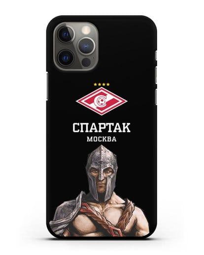 Чехол ФК Спартак Москва Гладиатор силикон черный для iPhone 12 Pro