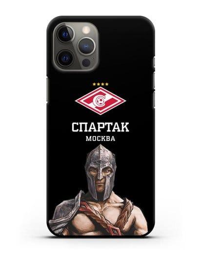 Чехол ФК Спартак Москва Гладиатор силикон черный для iPhone 12 Pro Max