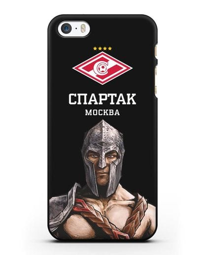Чехол ФК Спартак Москва Гладиатор силикон черный для iPhone 5/5s/SE