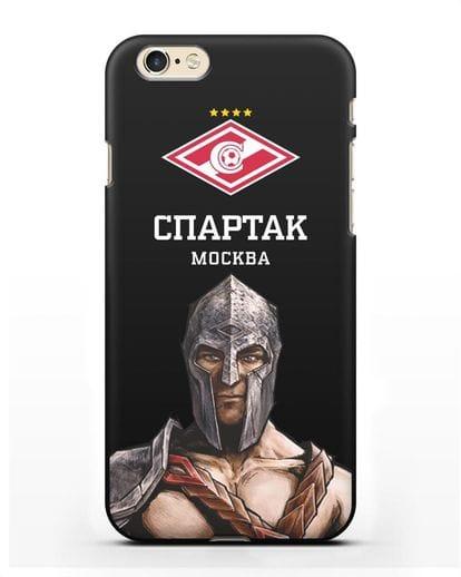 Чехол ФК Спартак Москва Гладиатор силикон черный для iPhone 6s