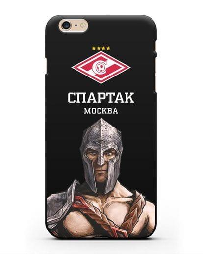Чехол ФК Спартак Москва Гладиатор силикон черный для iPhone 6 Plus
