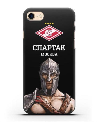 Чехол ФК Спартак Москва Гладиатор силикон черный для iPhone SE 2020