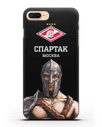 Чехол ФК Спартак Москва Гладиатор силикон черный для iPhone 7 Plus