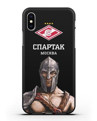 Чехол ФК Спартак Москва Гладиатор силикон черный для iPhone X