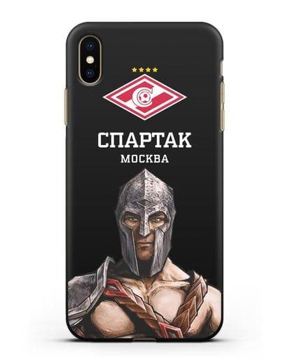 Чехол ФК Спартак Москва Гладиатор силикон черный для iPhone XS Max
