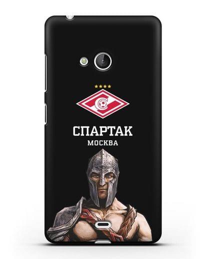 Чехол ФК Спартак Москва Гладиатор силикон черный для Microsoft Lumia 540