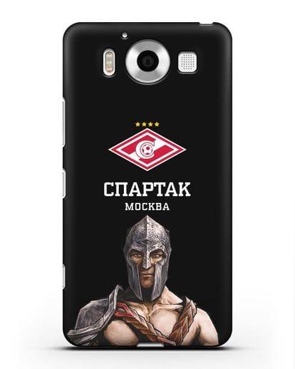 Чехол ФК Спартак Москва Гладиатор силикон черный для Microsoft Lumia 950