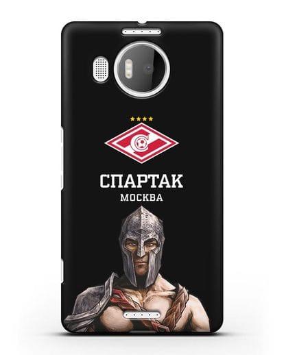 Чехол ФК Спартак Москва Гладиатор силикон черный для Microsoft Lumia 950 XL
