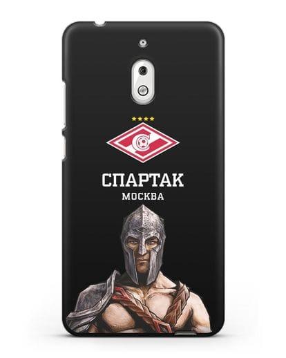 Чехол ФК Спартак Москва Гладиатор силикон черный для Nokia 2.1