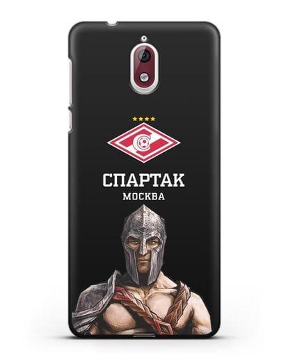 Чехол ФК Спартак Москва Гладиатор силикон черный для Nokia 3.1