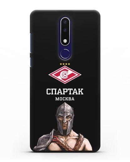 Чехол ФК Спартак Москва Гладиатор силикон черный для Nokia 3.1 plus