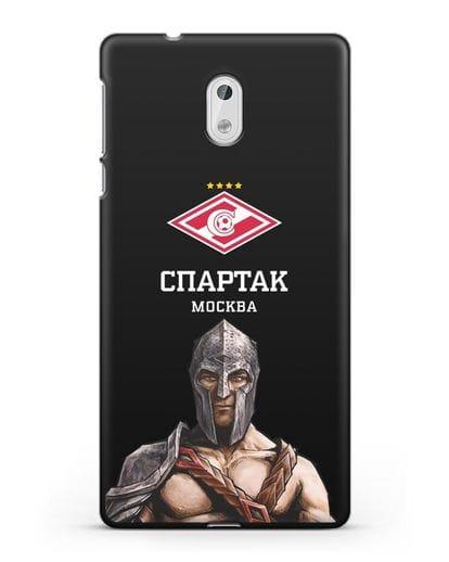 Чехол ФК Спартак Москва Гладиатор силикон черный для Nokia 3