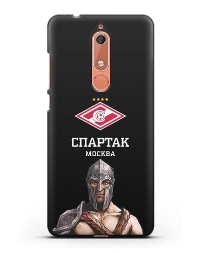 Чехол ФК Спартак Москва Гладиатор силикон черный для Nokia 5.1