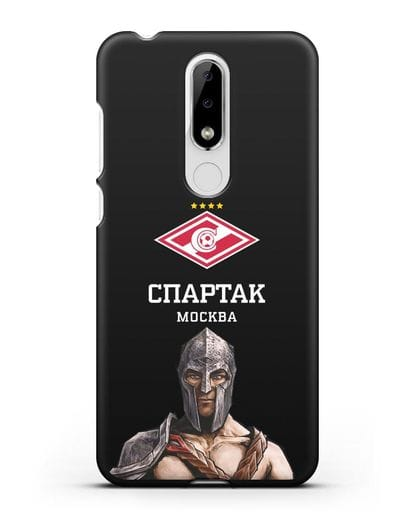 Чехол ФК Спартак Москва Гладиатор силикон черный для Nokia 5.1 plus