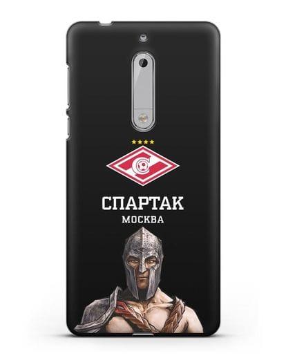 Чехол ФК Спартак Москва Гладиатор силикон черный для Nokia 5