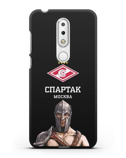 Чехол ФК Спартак Москва Гладиатор силикон черный для Nokia 6.1 plus