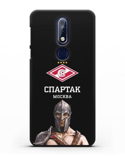 Чехол ФК Спартак Москва Гладиатор силикон черный для Nokia 7.1