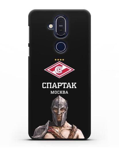 Чехол ФК Спартак Москва Гладиатор силикон черный для Nokia 7.1 plus