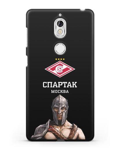 Чехол ФК Спартак Москва Гладиатор силикон черный для Nokia 7