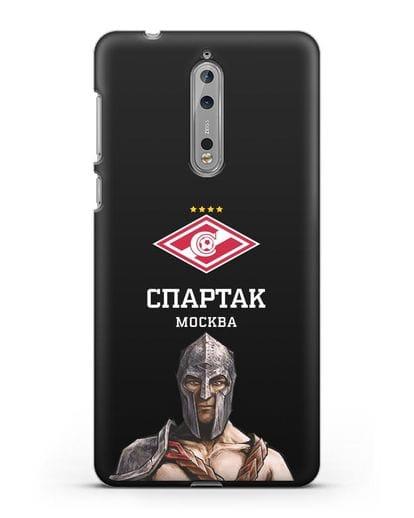 Чехол ФК Спартак Москва Гладиатор силикон черный для Nokia 8