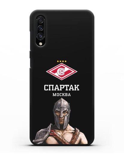 Чехол ФК Спартак Москва Гладиатор силикон черный для Samsung Galaxy A30s [SM-A307FN]