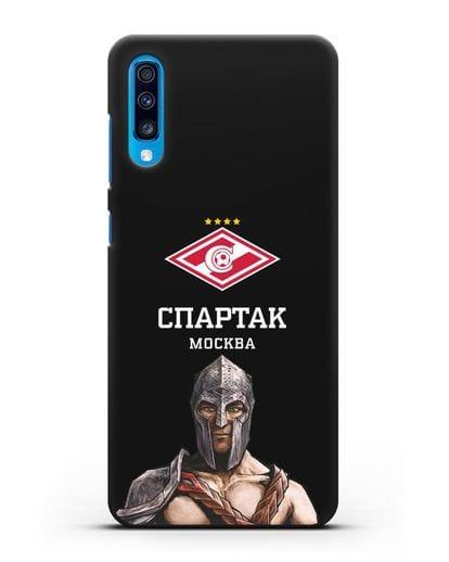 Чехол ФК Спартак Москва Гладиатор силикон черный для Samsung Galaxy A70 [SM-A705F]