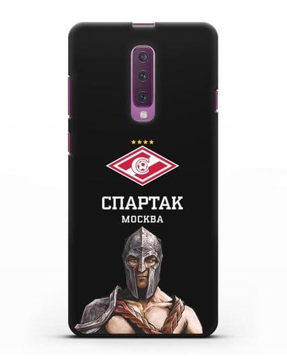 Чехол ФК Спартак Москва Гладиатор силикон черный для Samsung Galaxy A90 [SM-A908N]