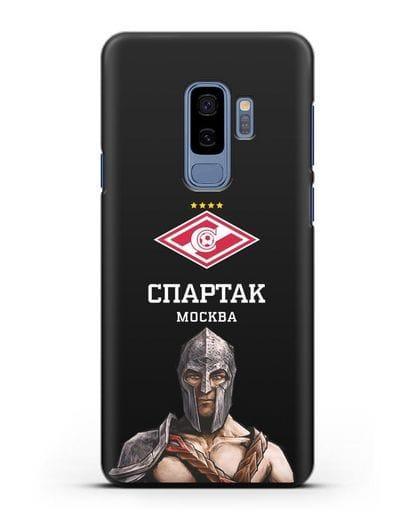 Чехол ФК Спартак Москва Гладиатор силикон черный для Samsung Galaxy S9 Plus [SM-G965F]